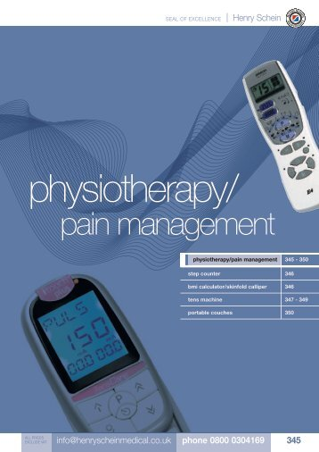 20. Physiotherapy/Pain Management - Henry Schein
