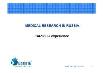 BAZIS IG Experience - Directory of Research - Esomar