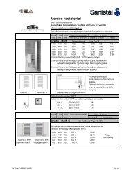 Vonios radiatoriai skirti Å¡ildymo sistemai 26.10 - Sanistal