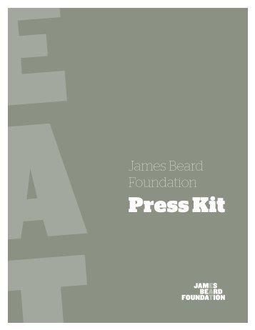 to download JBF's latest Press Kit - James Beard Foundation