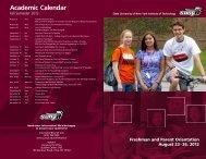 Academic Calendar - SUNY Institute of Technology