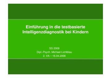 Intelligenzdiagnostik_Historische Entwicklung