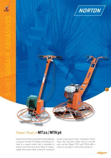 Power Floats MT22/MTA36 - Norton Construction Products