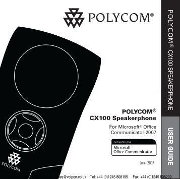 Polycom CX100 User Manual (PDF)