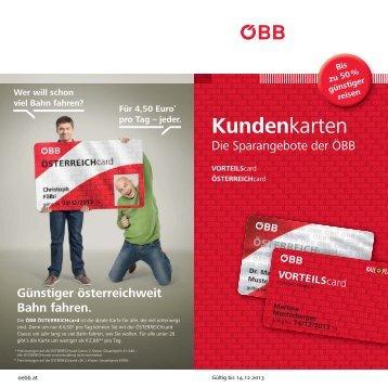 Kundenkarten - ÖBB