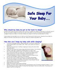 0811 Safe Sleep For Your Baby Colour