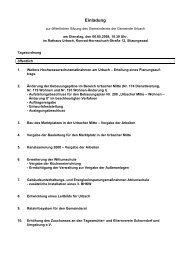 Einladung öffentliche Sitzung GR 06.05.2008 - Gemeinde Urbach