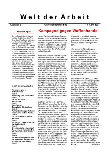 WdA April 2004 - Welt der Arbeit