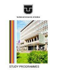 faculty of mechanical engineering - TUKE