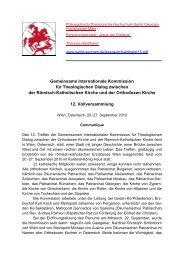 Gemeinsame Internationale Kommission für Theologischen Dialog ...