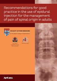 Recommendations for good practice in the use of epidural injection ...