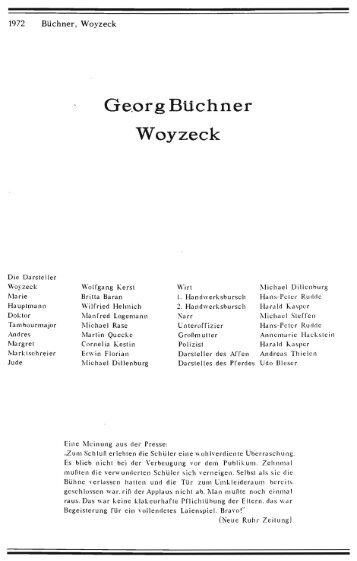 1972 Büchner Woyzeck