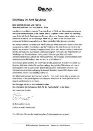 Umweltverträglicher Ausbau von ... - BUND LV Niedersachsen e.V.