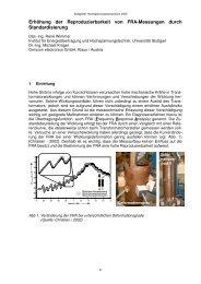 Erhöhung der Reproduzierbarkeit von FRA-Messungen durch ...