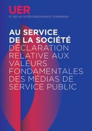 Valeurs fondamentales des médias de service public - Ebu