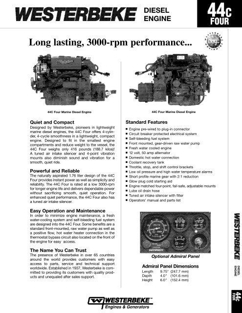 Diesel Engine 44C Four pdf - Westerbeke