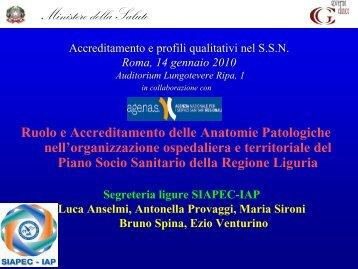 Ruolo e Accreditamento delle Anatomie Patologiche nell ...