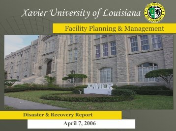 Hurricane Katrina Aftermath Xavier University of Louisiana
