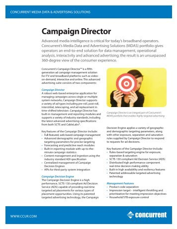 Campaign Director - Concurrent Computer Corporation