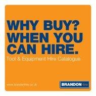 Brandon Hire Catalogue 2013 - Brandon Tool Hire