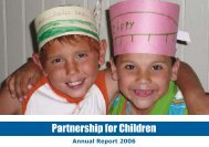 Annual Report 2006 - Partnership for Children