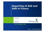 EHN 2008 Reporting of SAE and SAR in France - International ...