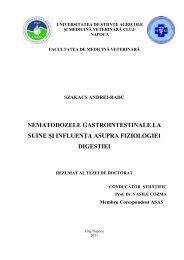Rezumatul tezei de doctorat Szakacs Andrei - USAMV Cluj-Napoca