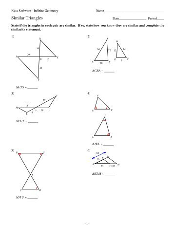 4 Isosceles And Equilateral Triangles Kuta Software