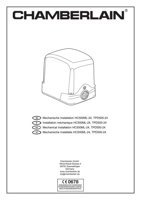 cover 709432f qxp - chamberlain