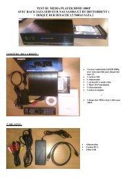test du media player hdmi 1080p avec rack sata serveur nas ... - Abix