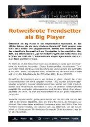 Rotweißrote Trendsetter als Big Player - Österreichischer ...