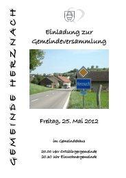 Freitag, 25. Mai 2012 Freitag, 25. Mai 2012 - Gemeinde Herznach