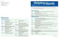 Helping Hands - Saint Clare's Hospital