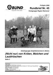 Rundbrief Nr. 45 - BUND Kreisgruppe Region Hannover - BUND für ...