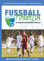 Heft Nr. 12 - Spvg Wesseling-Urfeld 19/46 eV