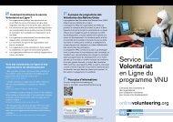 Service Volontariat en Ligne du programme VNU - United Nations ...