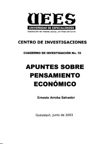 APUNTES SOBRE PENSAMIENTO ECONÓMICO - Universidad de ...