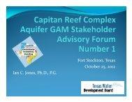 SAF 1 - Texas Water Development Board