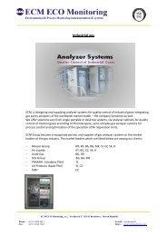 Industrial Gas - ECM ECO Monitoring