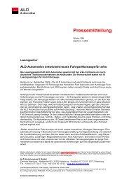 PM Neue Partnerschaft ALD_arko 0909__3 - bei der ALD Automotive