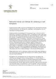Nationella kriterier och riktlinjer för validering av reell kompetens