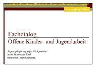 Fachdialog offene Kinder- und Jugendarbeit - Landschaftsverband ...