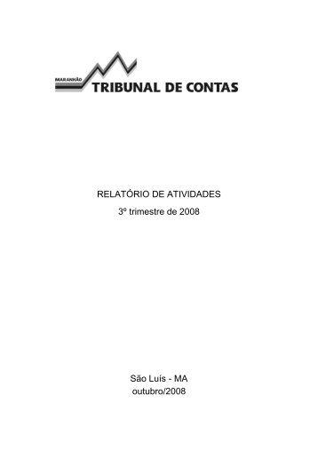 3° trimestre de 2008 - Tce.ma.gov.br