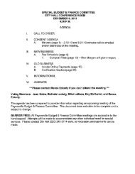 12/9/2013 Special Budget & Finance Committee Agenda - Paynesville