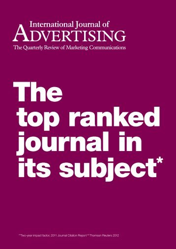 **Two-year impact factor, 2011 Journal Citation Report ... - Warc