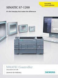 SIMATIC Controller SIMATIC S7-1200 - Industry - Siemens Nederland