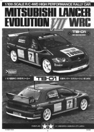 Tamiya Lancer Evo VII Manual - Wheelsacademy.info