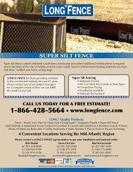 1-866-428-5664 • www.longfence.com SUPER SILT ... - Long® Fence