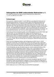 Stellungnahme des BUND Landesverbandes Niedersachsen e. V.