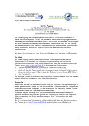 Call for Papers zur 70. Wissenschaftlichen Jahrestagung des ...